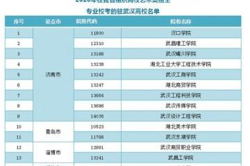 共14所推迟驻武汉高校在山东安排2020年普通高校艺术类专业招生校考时刻